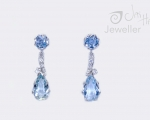 Aqua earrings from Jai Hay Hobart Jewellery Store