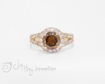 Cognac cluster Ring from Jai Hay Jeweller in Hobart, Tasmania
