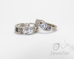 Matching Topaz Rings Hobart Jewellery shop Jai Hay Jeweller