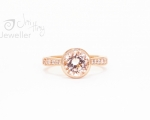 Morganite ring from Hobart jewellery shop Jai Hay Jeweller