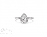 Pear Cut Diamond Engagement Ring from Hobart Jewellery shop Jai Hay Jewelle