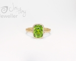 Peridot Ring - made to order in Hobart Jewellery store