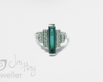 Tourmaline Bespoke Handmade ring from Hobart jewellery shop Jai Hay Jeweller